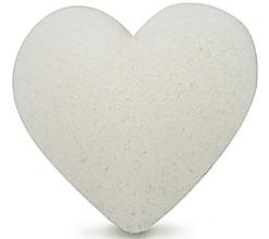 Parfumuri și produse cosmetice Burete pentru curățarea feței, inimă - Bebevisa Pure Konjac Sponge