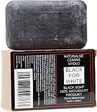 Parfumuri și produse cosmetice Săpun negru natural - Biomika Black For White