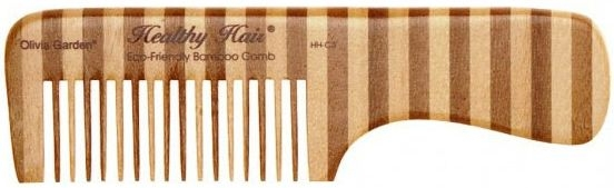Pieptene de bambus, 3 - Olivia Garden Healthy Hair Eco-Friendly Bamboo Comb 3 — Imagine N1