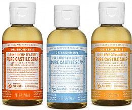 Parfumuri și produse cosmetice Set - Dr. Bronner's 18-in-1 Pure Castile Soap (soap/3x60ml)