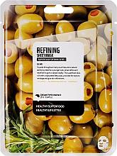 """Parfumuri și produse cosmetice Mască de țesut pentru față """"Măslin"""" - Superfood For Skin Refining Sheet Mask"""