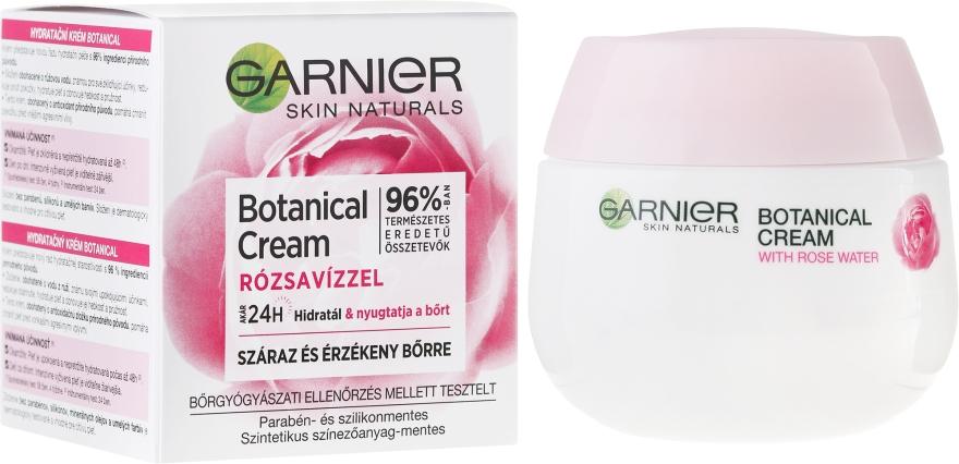 Hidratant de zi pentru piele uscată și sensibilă - Granier Skin Naturals Soft Essentials Hydrating Care 24h Day Face Cream — Imagine N1