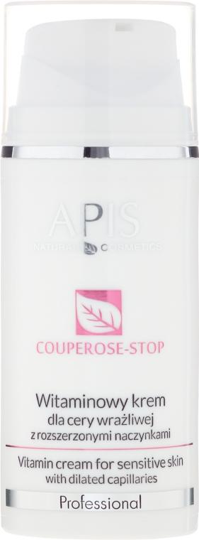 Cremă pentru piele sensibilă cu capilare dilatate - APIS Professional Couperose-Stop Vitamin Cream