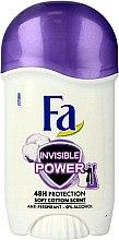 Parfumuri și produse cosmetice Deodorant stick - Fa Invisible Power Deodorant Stick