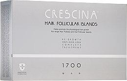 Parfumuri și produse cosmetice Complex tratament împotriva căderii părului, pentru bărbați, 1700 - Crescina Hair Follicular Islands Man Complete Treatment 1700