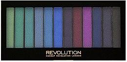 Parfumuri și produse cosmetice Paleta fard de pleoape, 12 nuanţe - Makeup Revolution Redemption Palette Mermaids VS Unicorns