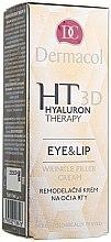 Parfumuri și produse cosmetice Cremă de ochi și buze cu acid hialuronic pur - Dermacol Hyaluron Therapy 3D Eye and Lip Wrinkle Filler Cream