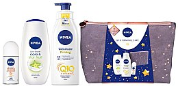 Parfumuri și produse cosmetice Set - Nivea Q10 Firming Care (sh/gel/250ml + deo/50ml + lot/400ml + bag)