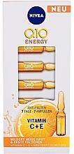 Духи, Парфюмерия, косметика Concentrat pentru față, fiole - Nivea Q10 Energy Boost
