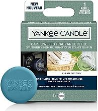 Parfumuri și produse cosmetice Aromatizator auto - Yankee Candle Clean Cotton Car Powered Fragrance Diffuser Refill (rezervă)