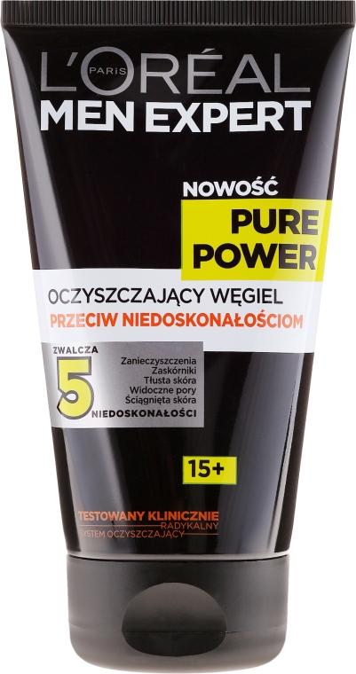Gel de curățare împotriva imperfecțiunilor pielii - L'Oreal Paris Men Expert Pure Power — Imagine N1