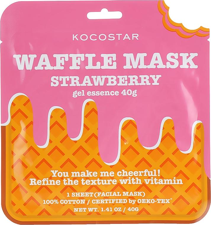 "Тонизирующая вафельная маска ""Клубничный фреш"" - Kocostar Strawberry Waffle Mask — фото N1"