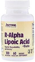 Parfumuri și produse cosmetice Suplimente nutritive - Jarrow Formulas R-Alpha Lipoic Acid + Biotin
