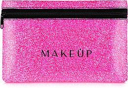 """Parfumuri și produse cosmetice Trusă cosmetică """"Glitter Pouch"""", 18x11 cm, roz - MakeUp"""