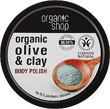 """Parfumuri și produse cosmetice Scrub pentru corp """"Argilă albastru"""" - Organic Shop Body Scrub Organic Olive & Clay"""