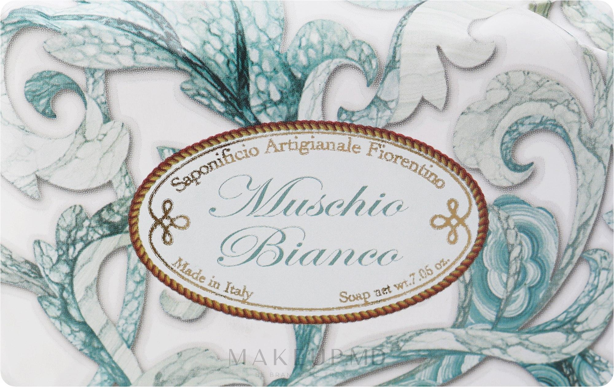 "Săpun de toaletă ""Mosc alb"" - Saponificio Artigianale Fiorentino White Musk — Imagine 200 g"