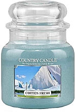 Parfumuri și produse cosmetice Lumânare parfumată (borcan) - Country Candle Cotton Fresh