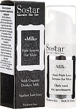 Parfumuri și produse cosmetice Ser de păr, pentru bărbați - Sostar Donkey Milk Men Anti-Hair Loss Serum