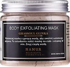Parfumuri și produse cosmetice Mască cu argilă Ghassoul pentru corp - Namur Body Exfoliating Ghassoul Clay