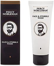 Parfumuri și produse cosmetice Gel pentru curățarea feței și bărbiei pentru bărbați - Percy Nobleman Face & Stubble Wash