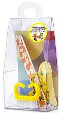 Parfumuri și produse cosmetice Set de manichiură pentru copii, 4021-1, 4 piese, galben - Tweezerman Baby Manicure Kit