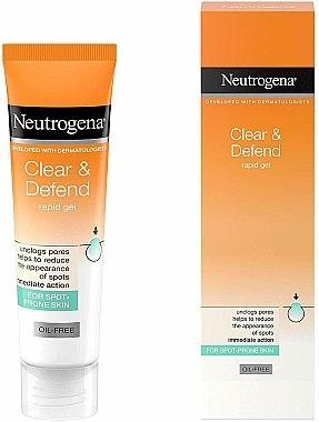 Gel pentru față - Neutrogena Clear & Defend Rapid Gel