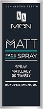 Parfumuri și produse cosmetice Spray matifiant de față pentru bărbați - AA Men Matt Face Spray