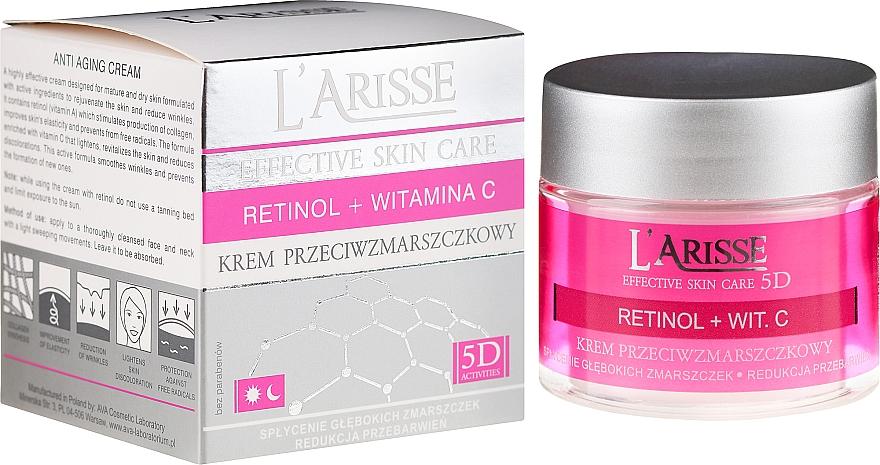 Cremă antirid cu retinol și vitamina C 50+ - Ava Laboratorium L'Arisse 5D Anti-Wrinkle Cream Retinol + Vitamin C — Imagine N1