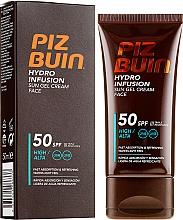 Parfumuri și produse cosmetice Cremă de plajă pentru față - Piz Buin Hydro Infusion SPF 50
