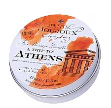 Parfumuri și produse cosmetice Lumânare pentru masaj cu mosc și parfum de paciuli - Petits JouJoux Mini A Trip To Athens