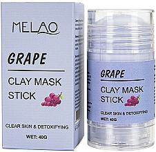 """Parfumuri și produse cosmetice Mască-stick pentru față """"Grape"""" - Melao Grape Clay Mask Stick"""
