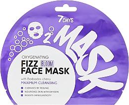 Parfumuri și produse cosmetice Mască efervescentă cu oxigen pentru față - 7 Days Bloom Maximum Cleansing Sheet Mask