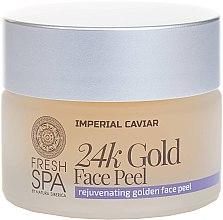 Parfumuri și produse cosmetice Peeling de aur pentru față - Natura Siberica Fresh Spa Imperial Caviar Rejuvenating Golden Face Peel 24K Gold