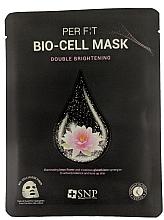 Parfumuri și produse cosmetice Mască de bioceluloză cu extract de lotus și glutation - SNP Brightening Bio-cell Mask
