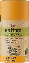 Vopsea de păr (henna) - Sattva Ayuvrveda (Czarna) — Imagine N1