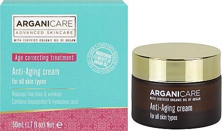 Cremă antirid cu efect de întărire - Arganicare Shea Butter Anti Aging Cream — Imagine N1