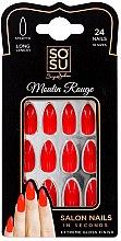 Parfumuri și produse cosmetice Set de unghii false - Sosu by SJ False Nails Long Stiletto Moulin Rouge