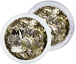 Parfumuri și produse cosmetice Glitter auriu pentru unghii - MylaQ My Gold Flakes