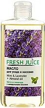 """Parfumuri și produse cosmetice Ulei pentru îngrijire și masaj """"Mentă și Lavandă + Ulei de migdale"""" - Fresh Juice Energy Mint&Lavender+Almond Oil"""