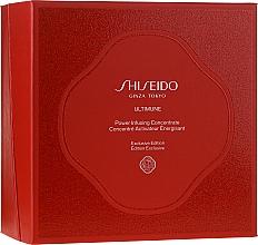 Parfumuri și produse cosmetice Set - Shiseido Ultimune (conc/50ml + foam/15ml + softner/30ml + conc/3ml)