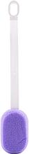 Духи, Парфюмерия, косметика Губка банная овальная с ручкой 30574, фиолетовая - Top Choice