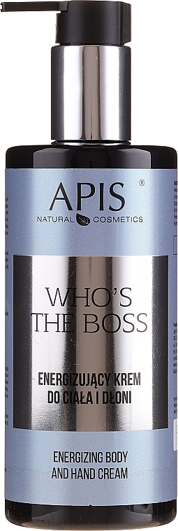 Бодрящий крем для тела и рук - Apis Who's The Boss Energizing Body And Hand Cream — фото N1