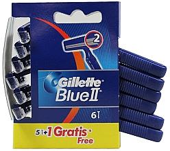 Parfumuri și produse cosmetice Set aparate de ras de unică folosință, 5+1 bucăți - Gillette Blue II Razor 5+1