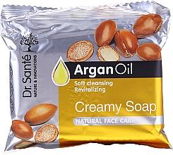 Parfumuri și produse cosmetice Săpun-cremă cu ulei de argan pentru față - Dr.Sante Cream Soap