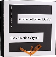 Parfumuri și produse cosmetice Set - Sezmar Collection Love Crystal (sh/gel/250ml + massage/oil/100ml + b/lot/200ml)