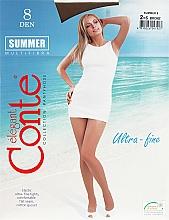 Parfumuri și produse cosmetice Colanți pentru femei «Summer» 8 Den, bronz - Conte