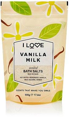 "Sare de baie ""Lapte vanilat"" - I Love... Vanilla Milk Bath Salt — Imagine N1"