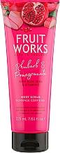 Parfumuri și produse cosmetice Scrub pentru corp - Grace Cole Fruit Works Body Scrub Rhubarb & Pomegranate