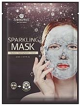 Parfumuri și produse cosmetice Mască de curățare din țesătură cu cărbune activ - Shangpree Sparkling Mask