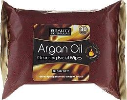 Parfumuri și produse cosmetice Șervețele pentru curățarea feței - Beauty Formulas Argan Oil Cleansing Facial Wipes